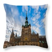St  Vitus Cathedral In Prague Throw Pillow