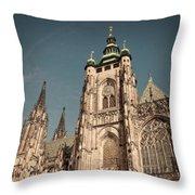 St Vitus Cathedral Prague Throw Pillow