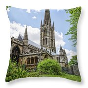 St Wulfram's Grantham Throw Pillow