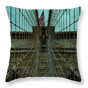 Stable - Brooklyn Bridge Throw Pillow