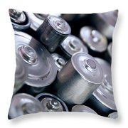 Stack Of Batteries Throw Pillow