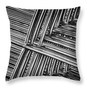 Stacked Barriers 0533 Throw Pillow
