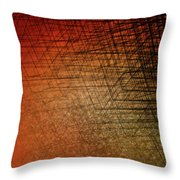 Stacked Boxes-sunset Throw Pillow