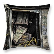 Stacked Throw Pillow by CJ Schmit