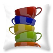Stacked Cups Throw Pillow