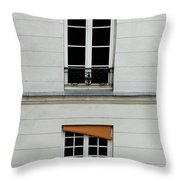 Stacked French Windows Throw Pillow
