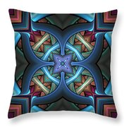 Stacked Kaleidoscope Throw Pillow