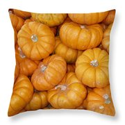 Stacked Mini Pumpkins Throw Pillow