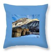 Stacked Mountains  Throw Pillow