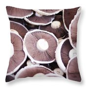 Stacked Mushrooms Throw Pillow