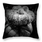 Stacked Pumpkins Throw Pillow