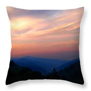 Stacked Sunrise Throw Pillow