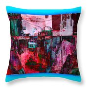 Stackin' The Alley Walk About Throw Pillow