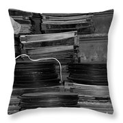Stacks Of Wax Throw Pillow