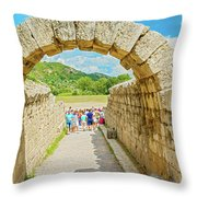 Stadium At Olympia, Greece  Throw Pillow