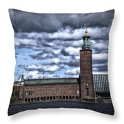 Stadshuset Color II Throw Pillow