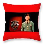 Staff Sergeant Barry Sadler Singing On National Tv - Ed Sullivan Show 1966-2016 Throw Pillow