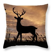 Stag 002 Throw Pillow