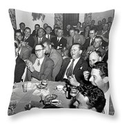 Stag Dinner And Awards Monterey Peninsula Country Club, Pebble Beach 1950 Throw Pillow