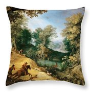 Stag Hunt Throw Pillow