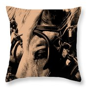 Stage Coach Horses Throw Pillow
