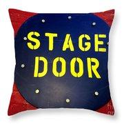 Stage Door Throw Pillow