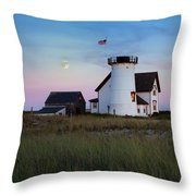 Stage Harbor Light Cape Cod Throw Pillow