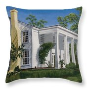 Stagecoach Inn Madison Georgia Throw Pillow