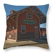Stagecoach Transportation  Throw Pillow