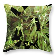 Staghorn Butterfly Fractal Throw Pillow