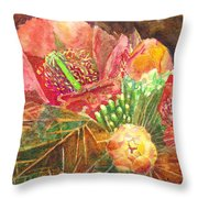 Staghorn In Bloom Throw Pillow