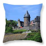 Stahleck Castle In The Rhine Gorge Germany Throw Pillow