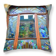 Stain Glass Of Brussels Throw Pillow