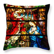 Stained Glass - Cape May Throw Pillow