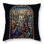 Stained Glass - Palm Sunday Throw Pillow