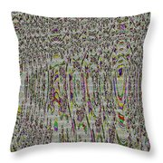 Stained Glass Abstract Throw Pillow