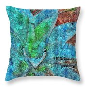 Stained Glass Agave Two  Throw Pillow