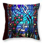Stained Glass Beauty #20 Throw Pillow
