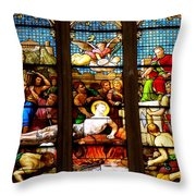 Stained Glass Beauty #38 Throw Pillow