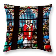 Stained Glass Beauty #39 Throw Pillow