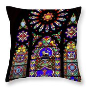 Stained Glass Beauty #46 Throw Pillow