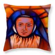 Stained Glass Beauty #66 Throw Pillow