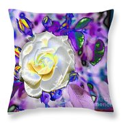 Stained Glass Beauty Throw Pillow