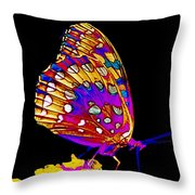Stained Glass Butterfly Throw Pillow