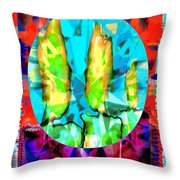 Stained Glass Candles Throw Pillow