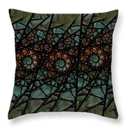 Stained Glass Floral I Throw Pillow