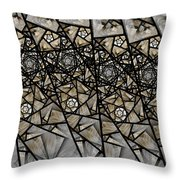Stained Glass Floral IIi Throw Pillow