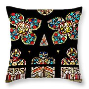 Stained Glass Glory Throw Pillow