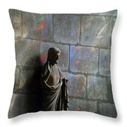 Stained Glass Illuminates Christ Throw Pillow