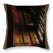 Stained Glass Impression Notre Dame Paris Throw Pillow